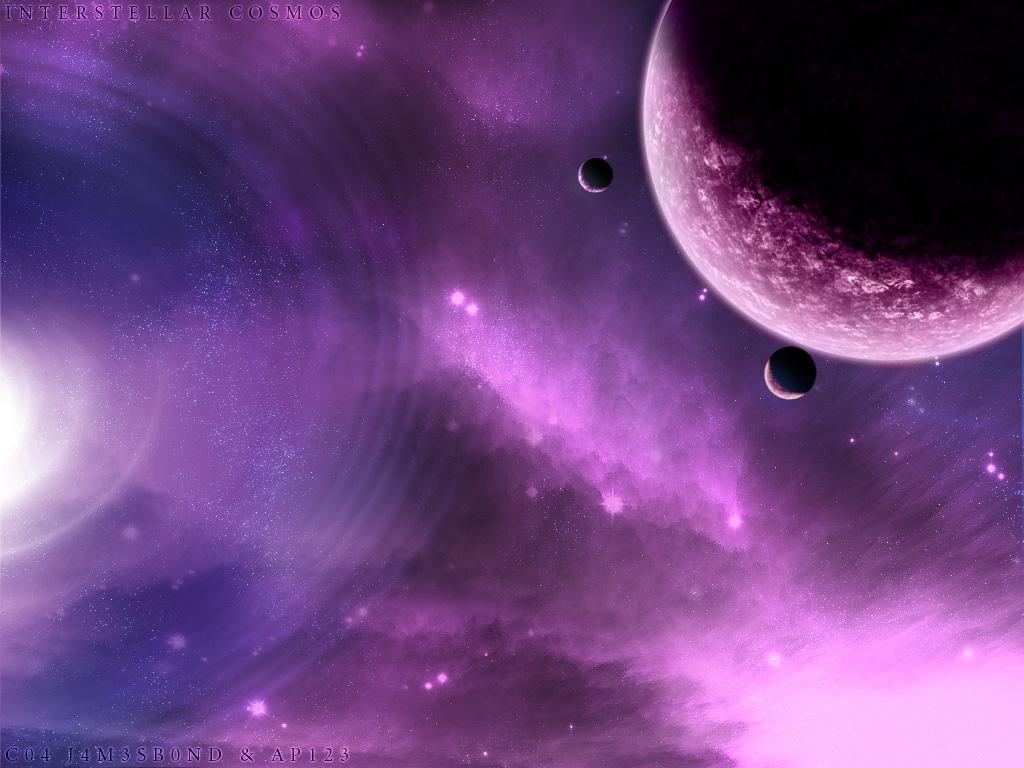 Космос вселенная фиолетовый синий